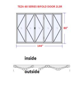 TEZA 60 SERIES BIFOLD DOOR
