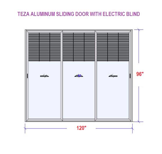TEZA ALUMINUM SLIDING DOOR