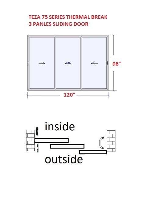 TEZA 75 SERIES PATIO BIFOLD DOORS - 4 PANELS
