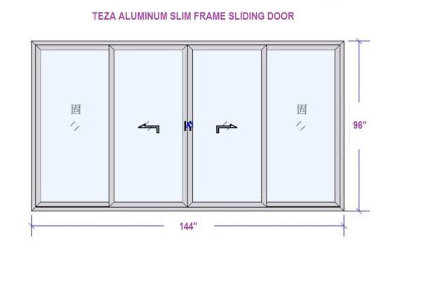 TEZA 70 SERIES SLIDING DOOR