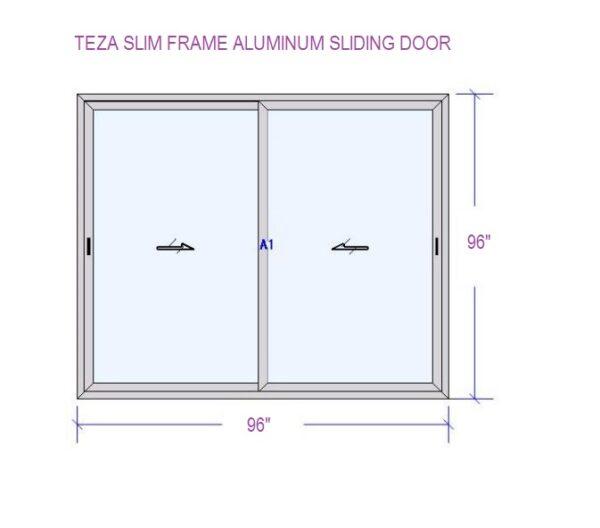 TEZA SLIDING DOOR 96x96